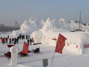 Snow sculpture festival, Harbin