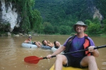 Damien kayaking on the Nam Song