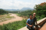 Hien and Damien by the Nam Khan, Luang Prabang