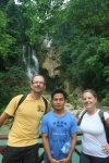 Damien, Hien and I at Kuang Si Falls